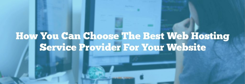 How You Can Choose The Best Web Hosting Service Provider For Your Website